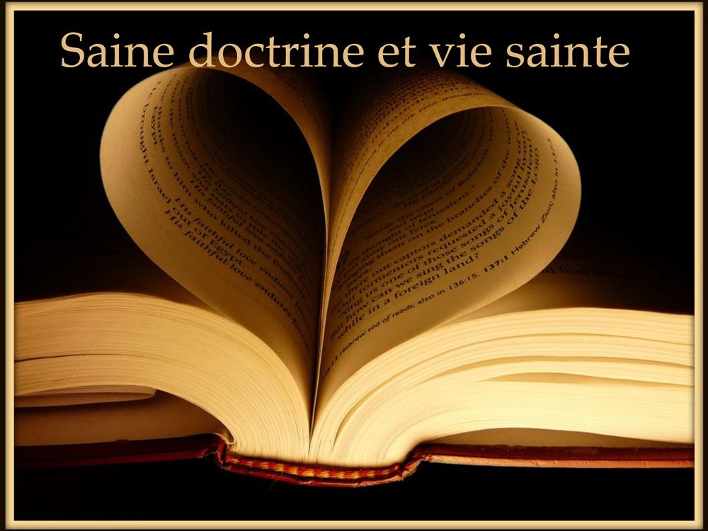 Sainte doctrine pour une vie